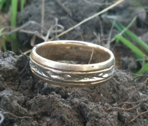 Ring found buried deep in the mud