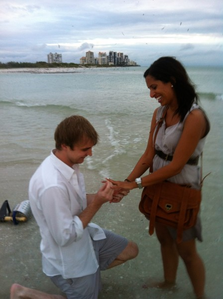 Like any guy madly in love, all that mattered was that she said YES!