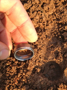 tungsten ring and hole