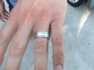 Platinum wedding band back on finger where it belongs!