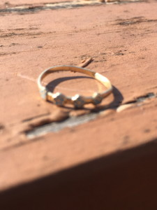 very small gold ring