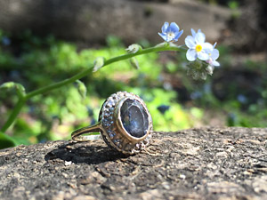 Lost gemstone diamond ring found in state park using metal detector