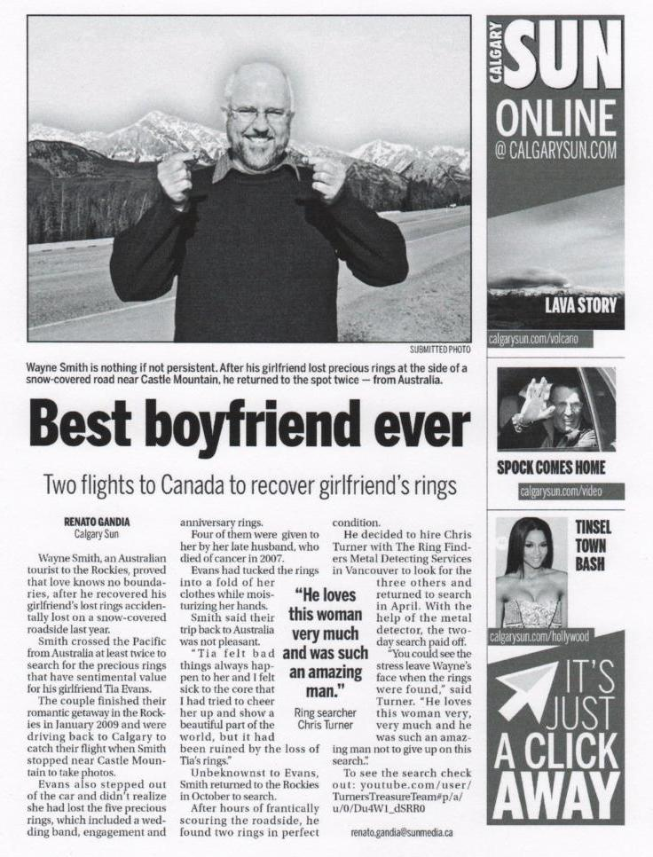 Calgary Sun: Best Boyfriend Ever