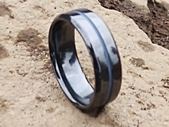 Fine Jewelry Designed Fit for Men and Women Use Wedding Band and Anniversary Ring Inspired by Fitness Friends of Irony Tungsten Carbide Yoga Ring Style One Focus and Relaxation